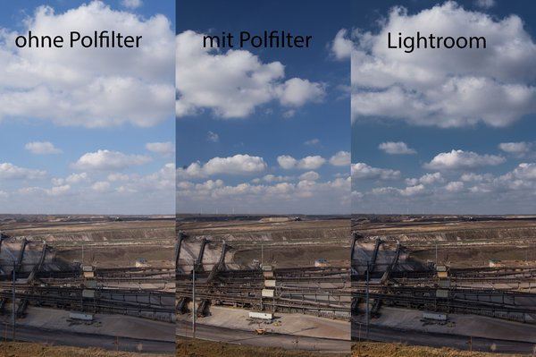 Substitute a polarizing filter with image processing