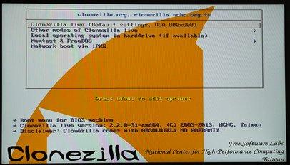 Installation sichern mit Clonezilla