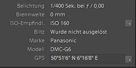 Lenstagger Plugin für Lightroom