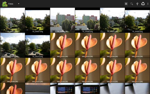 Process raw images with an Android tablet I