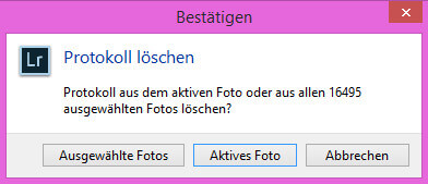 Lightroom Katalogoptimierung mal anders
