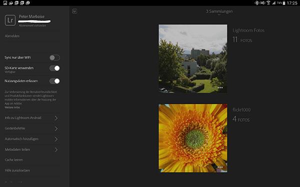 Lightroom Mobile für Android 1.4 nunmehr frei