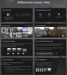 Technologievorschauen auf Lightroom Web