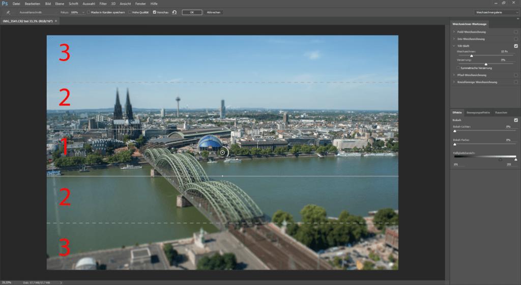 Photoshop CC und der Tilt Shift Filter