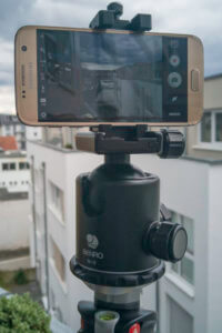 Avoid camera shake in video captures with a cell phone