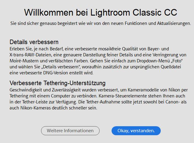 Adobe veröffentlicht Updates für Lightroom Classic und Lightroom CC