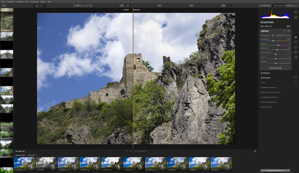 First look on Luminar 4 beta