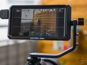 Ein externer Monitor für Videoaufnahmen