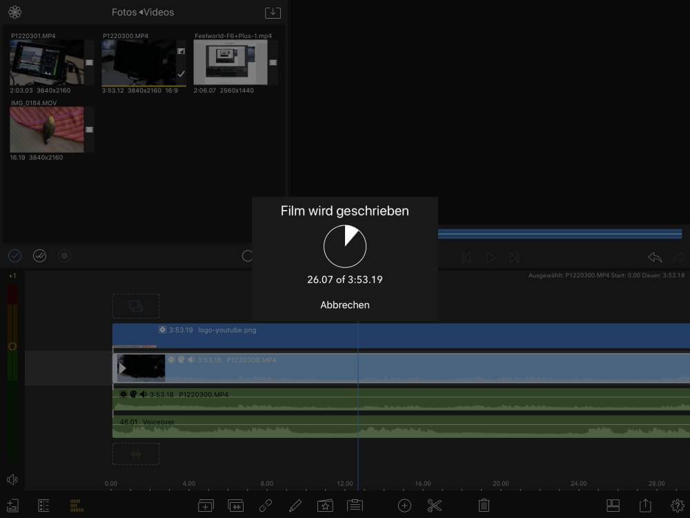 Videobearbeitung mit dem iPad Air