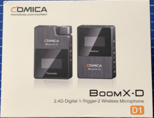 Wireless audio with the Comica Boom X-D