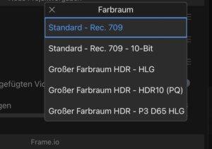 Lumafusion 2.4 mit 10 Bit und HDR