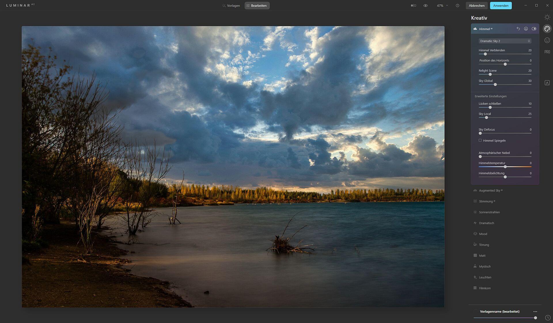 Himmel austauschen mit Luminar oder Photoshop