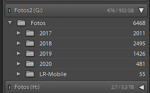 Organizing images with Lightroom collections