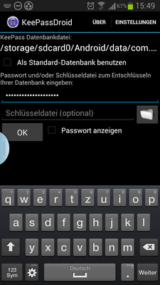 Passwörter sicher mobil